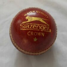 Slazenger Crown Red Cricket Ball - Leather Entirely Hand Stitched, 5.5oz