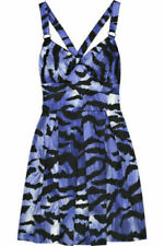 Alice By Temperley, animal tiger print mini summer blue dress Size 10-12 cotton