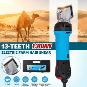 DE 1300W 6Gang Pferd Schermaschine Kamel Rasierer Tier Vieh Haarschneider Bürste