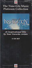 TIME LIFE Songs of Inspiration AMAZING GRACE-POWER&GLORY-GREAT THOU ART 3 CD NEW