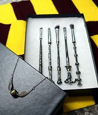 ***Harry Potter wizard wand makeup brush 5pcs Set & Bracelet*** US SELLER