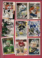 9 X 1990S NATIONAL HOCKEY PLAYER GOALIE  CARD