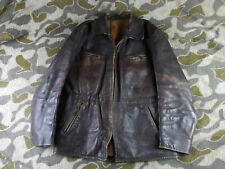 WW2 40's VTG GERMAN LUFTWAFFE LEATHER FLIGHT JACKET NSKK MOTORCYCLE JACKET