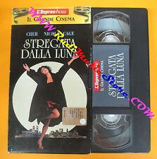 VHS film STREGATA DALLA LUNA Cher Nicolas Cage L'ESPRESSO cinema (F87) no dvd