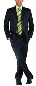 Studio Coletti Anzug Set Lang-Gr.94 Business Schwarz Streifen Herren Sakko Hose