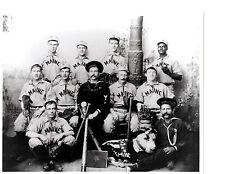 1898 USS MAINE  8X10 TEAM PHOTO BASEBALL US NAVY RING BAT