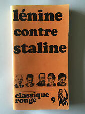 LENINE CONTRE STALINE CLASSIQUE ROUGE 1971 COMITE MASPERO
