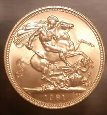 More details for sovereign 1981, nearly mint? 8 grams. special delivery, uk only.