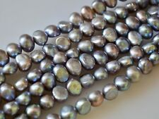 8-10mm Gray Pinkish Nugget Freshwater Pearl Beads Cultured Pearl Beads #796