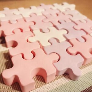 Jigsaw Puzzle Cake Silicone Mould Icing Chocolate Bunt Resin Candle Soap Melt