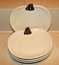 Pottery Barn Barbra Eigen Pumpkin Snack Dessert Salad Plates Set of 4