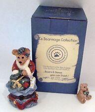 Boyds Bears Le Bearmoge Collection - Santa's Helper Porcelain Hinged Box
