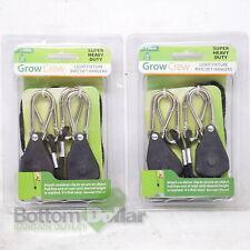 Grow Crew 2-Hangers Per Pack Light Fixture Ratchet Hangers (2 Packs)