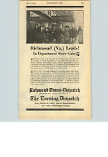 1923 Papier AD Zeitung Richmond Times Dispatch Abend Geschichte Brooks Finley
