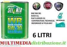 OLIO MOTORE SELENIA WR PURE ENERGY 5W-30 6 LT LITRI ORIGINALE FIAT ALFA ROMEO