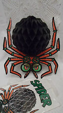 VINTAGE Beistle Co Halloween Accordion Paper Spider Hanging Decoration - NEW