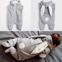Newborn Infant Kids Baby Boy Girl Romper Hooded Jumpsuit Bodysuit Outfit Clothes