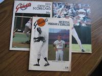 1975 1981 1983 San Francisco Giants Official Program & Scorecard('75 Sccard Only