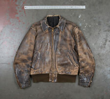 Vintage LANGLITZ LEATHERS BOMBER FLIGHT JACKET size 42 100% Authentic