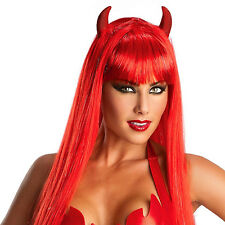 Red Scary Creepy Clown Long Straight Wig Halloween Cosplay Party Costume HM-1081