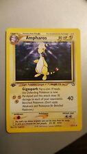 Ampharos 1st Edition Holo 1/111 Neo Genesis Pokemon card