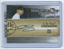 Chris Sale 2011 In the Game Heroes and Prospects Lumbergraphs AUTO Rookie Card