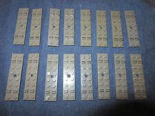 LEGO Eisenbahn alt 4,5V / 12V 16 X Graue Schwelle für Schiene
