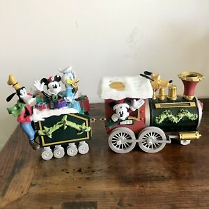 Avon Disney Holiday Train Set Mickey Minnie Donald Goofy Holiday 2015 EUC
