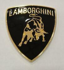 Lamborghini adhesive metal badge emblem 52mm x 60mm