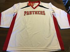 NEW PANTHER  LONG SLEEVE  FOOTBALL  JERSEYS  BY RAWLINGS SIZE MEN'S LARGE  NWTS