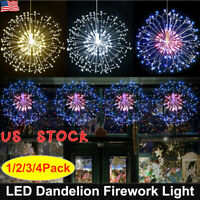 Christmas Firework Lights LED String Light Remote Control Waterproof Outdoor US
