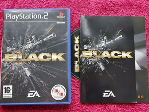 BLACK THE GAME ORIGINAL BLACK LABEL SONY PLAYSTATION 2 PS2 PAL