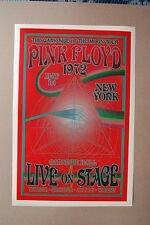 Pink Floyd Concert Tour Poster 1972 New York