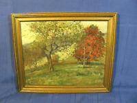 New England Fall Landscape 1930's O/B Impressionistic Painting