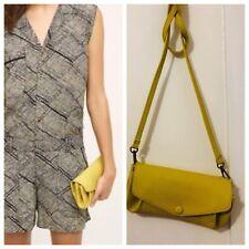 NWT Anthropologie Vegan Leather Crossbody Handbag Yellow bbdb3cccb86b0