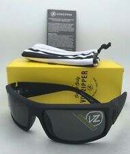 6607c51a1b New Authentic VONZIPPER Sunglasses VZ KICKSTAND Black Satin Frames w Grey  Lenses