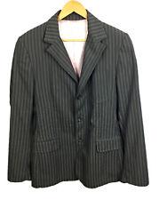 Dolce Gabbana Jacket Blazer Gray Striped Womens Size 36/50 (see measurements)
