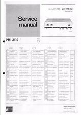 PHILIPS SERVICE MANUAL per 22 RH 520