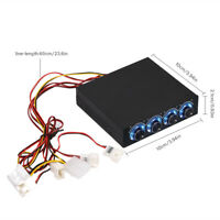 DC12V 5V-12V 4 Channe Fan Temperature Controller Speed 3.5'' Floppy Drive for PC