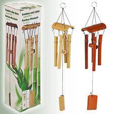 naturel Carillon de vent en bambou Jardin SUSPENSION mobile décoration 60cm