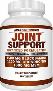 ARAZO Glucosamine Chondroitin Turmeric MSM 180 Tabs ADVANCED JOINT SUPPORT