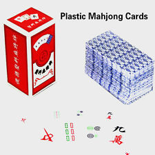 1Pair Plastic Waterproof Mahjong Playing Cards Game Chinese Mahjong