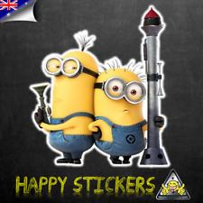 Despicable Me Minion Rocket Duo Luggage Car Skateboard Laptop Decal Sticker