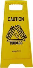 New listing New AmazonBasics 2-Sided Floor Safety Sign - Caution, Multilingual