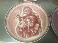 "(4) Williams Sonoma Josiah WEDGWOOD Christmas ""Saint Nick""... 9"" Plate"