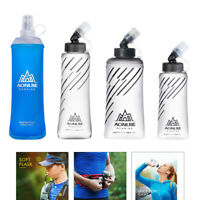 Foldable BPA Free Soft Running Water Bottle Soft Flask for Hydration Pack