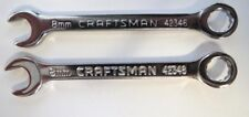 Craftsman 42346 8mm Combination Wrench 12 Point 2 PCS