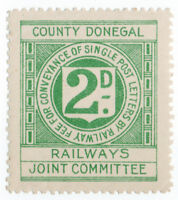 (I.B) County Donegal Railways Joint Committee : Letter Stamp 2d