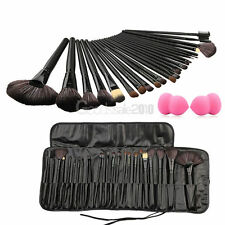 24Pcs Professional Soft Cosmetic Eyebrow Shadow Makeup Brush Set Kit+Sponge Puff