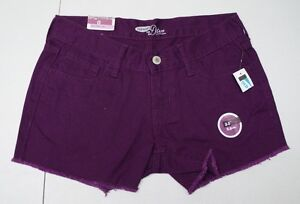 Old Navy Womens 0 Purple Cotton Jean Shorts NWTs